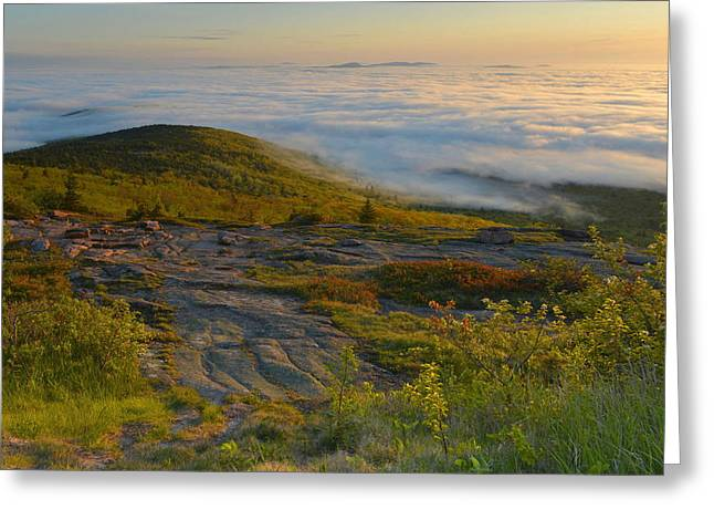 Greeting Card featuring the photograph Early Morning Cloud Banks by Stephen  Vecchiotti