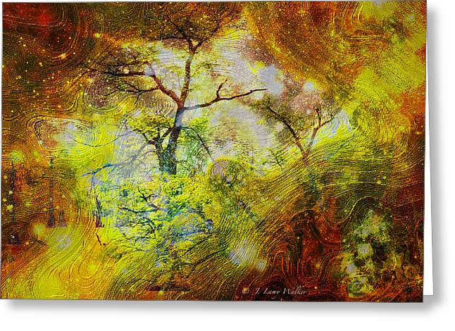 Early Morning Cypress Abstract Greeting Card by J Larry Walker