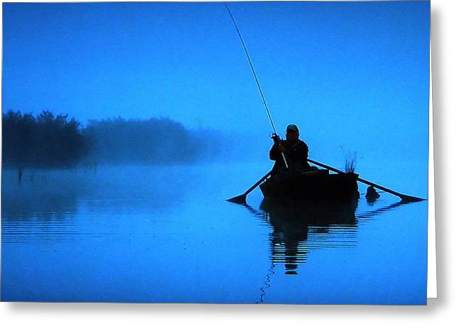 Greeting Card featuring the photograph Early Morning Fishing  by Colette V Hera  Guggenheim