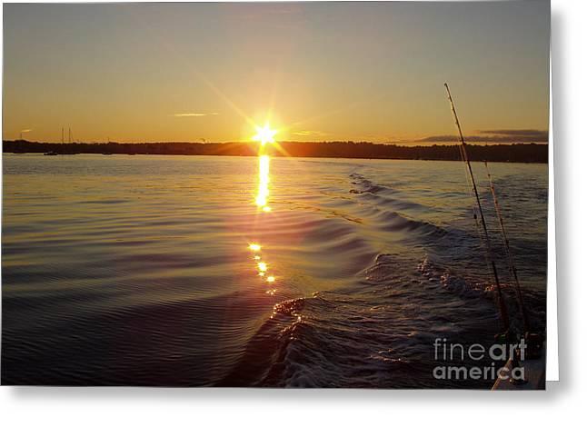 Early Morning Fishing Greeting Card