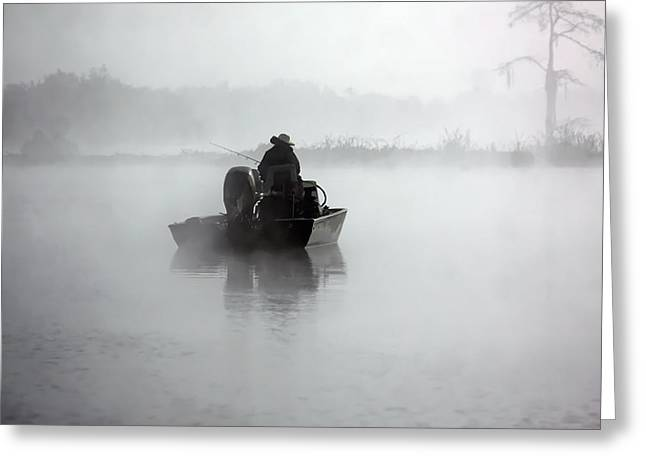 Early Morning Fishing Greeting Card