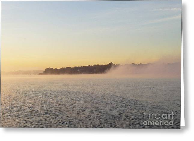 Early Morning Fog Rolling In Greeting Card by John Telfer