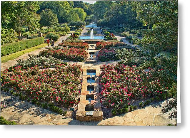 Early Morning Fort Worth Botanic Gardens Greeting Card