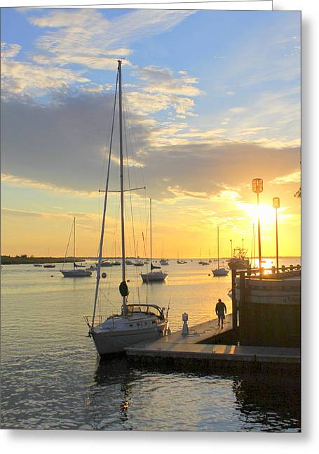 Early Morning In The Harbor Greeting Card
