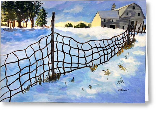 Early Morning In Winter Greeting Card by Jane Croteau
