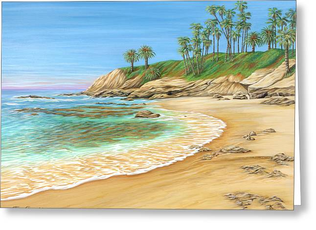 Greeting Card featuring the painting Early Morning Laguna by Jane Girardot