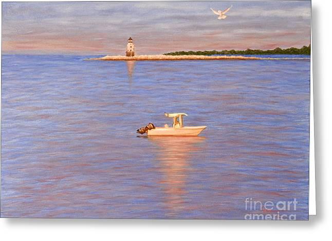 Greeting Card featuring the painting Early Morning Light by Cindy Lee Longhini