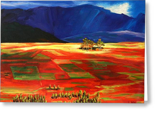 Early Morning Light, Peru Impression Greeting Card