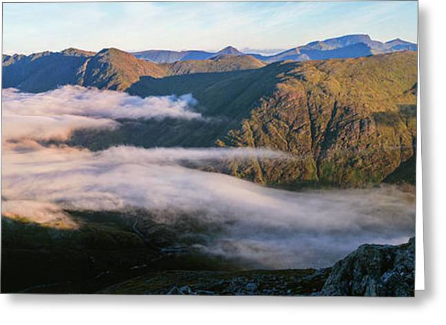 Early Morning Light On Mountains Greeting Card