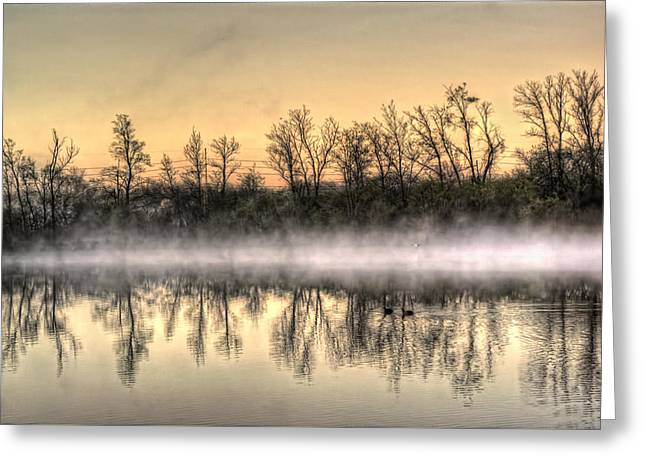 Greeting Card featuring the photograph Early Morning Mist by Lynn Geoffroy