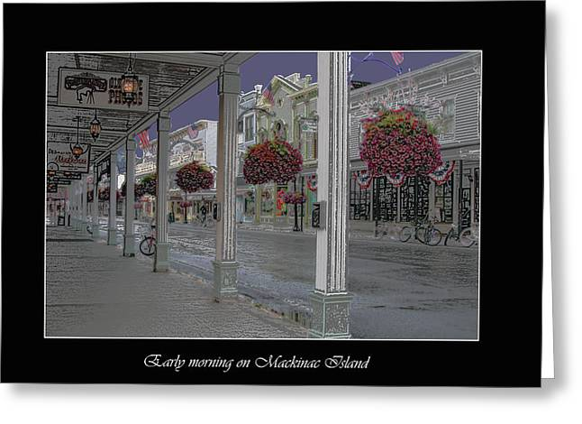 Early Morning On Mackinac Island Greeting Card