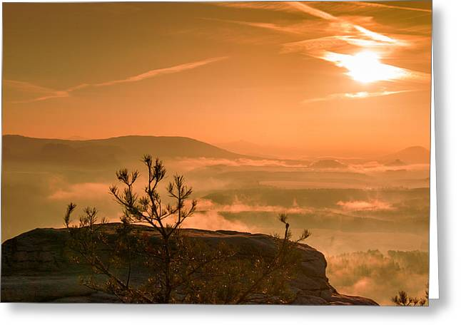 Early Morning On The Lilienstein Greeting Card