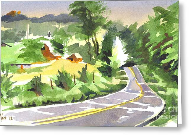 Early Morning Out Route Jj Greeting Card by Kip DeVore