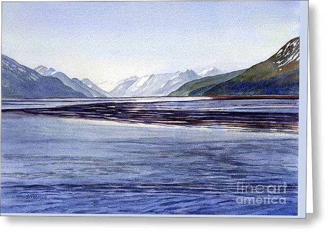 Early Morning Shadows Turnagain Arm Greeting Card