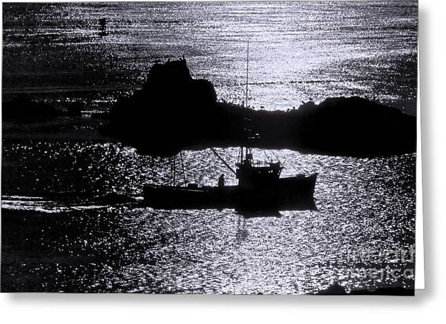 Early Morning Silhouette At Sail Rock Narrows Greeting Card by Marty Saccone