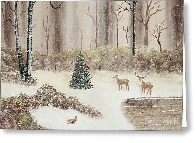 Early Morning Snow Greeting Card