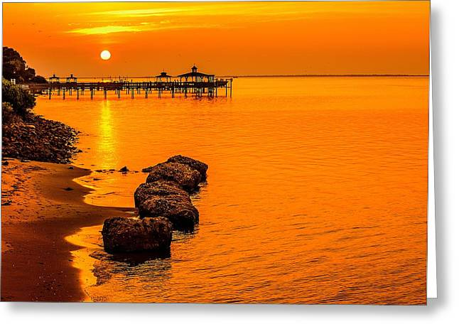 Early Morning Southport Greeting Card by Chris Modlin