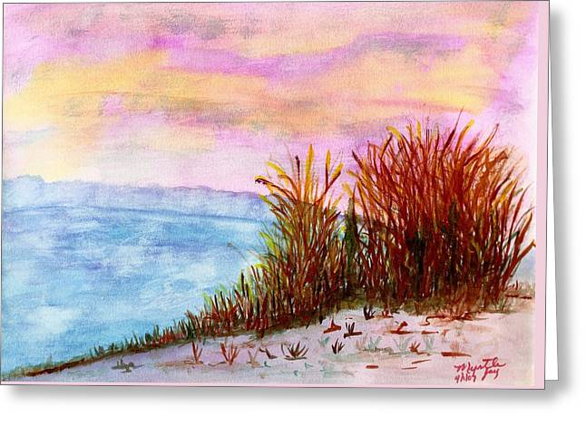 Early Morning Sunrise At Pentwater Mi Greeting Card