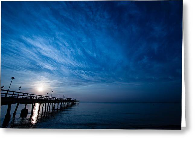 Early Morning Sunrise Greeting Card by Mike Burgquist