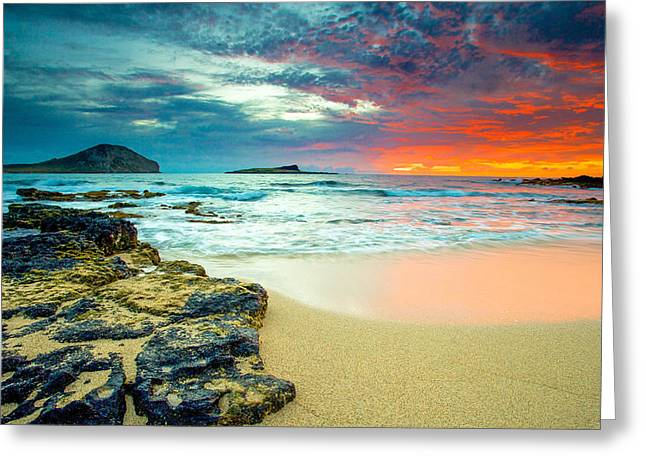 Early Morning Sunrise Greeting Card by Robert  Aycock