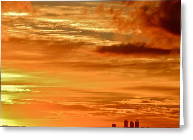 Early Morning Sunshine Over Fremantle Greeting Card