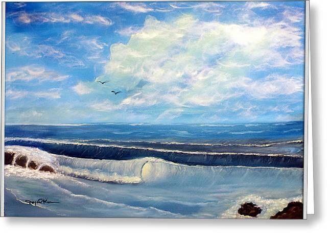Early Morning Surf Greeting Card by Joyce Krenson