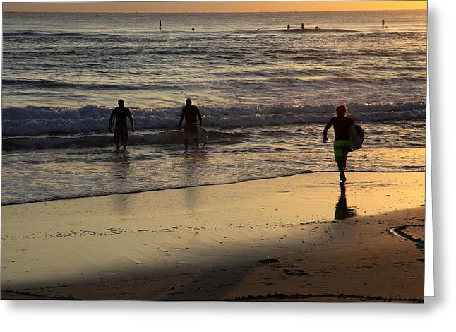 Early Morning Surf Greeting Card