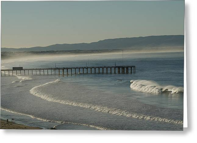 Early Morning Surf Pismo Beach Greeting Card