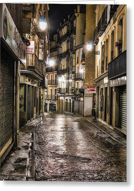 Early Morning Toledo Greeting Card by Joan Carroll