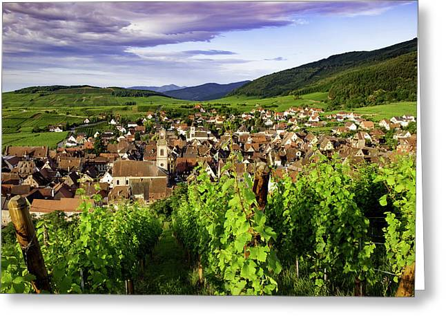 Early Morning View Over Riquewihr Greeting Card