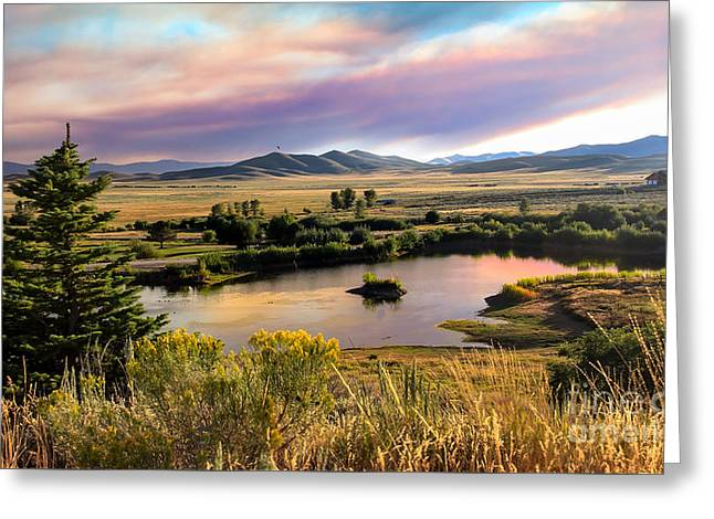 Early Morning View Greeting Card by Robert Bales