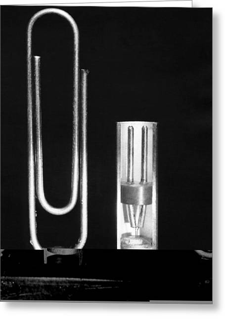 Early Point Contact Transistor Greeting Card by Science Photo Library
