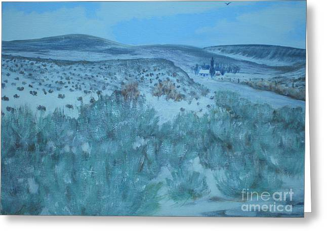 Early Snow In Idaho Greeting Card