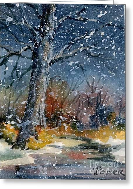 Early Snowfall Greeting Card