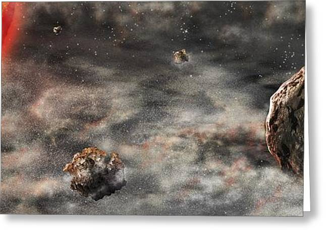 Early Solar System Greeting Card by Nicolle R. Fuller