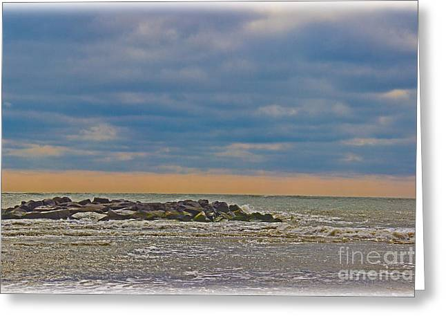 Early Spring At The Shore Greeting Card by Tom Gari Gallery-Three-Photography