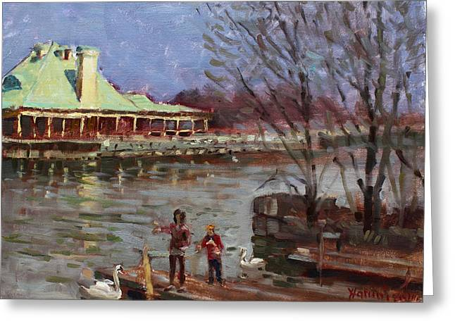 Early Spring In Portcredit Mississauga Greeting Card