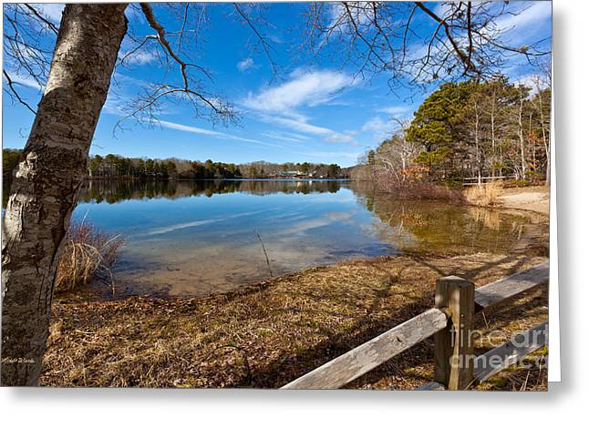 Early Spring On Long Pond Greeting Card by Michelle Wiarda