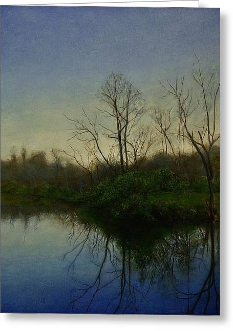 Greeting Card featuring the painting Early Spring by Wayne Daniels