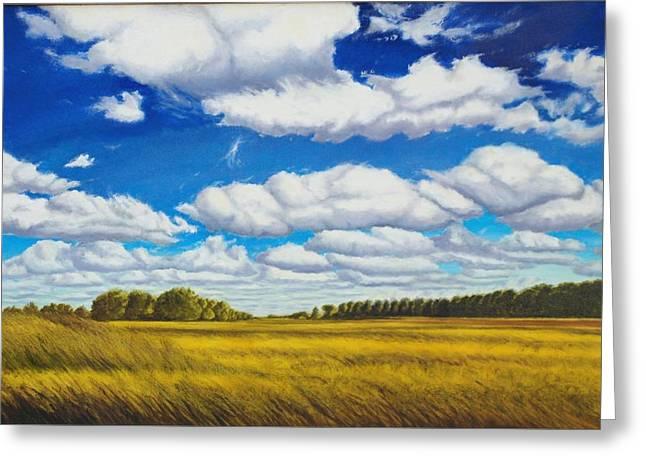 Early Summer Clouds Greeting Card by Leonard Heid