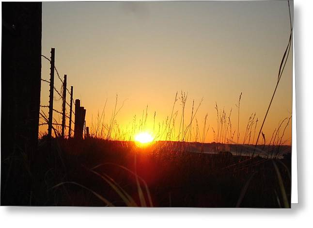 Early Sunrise In September Greeting Card by J L Zarek