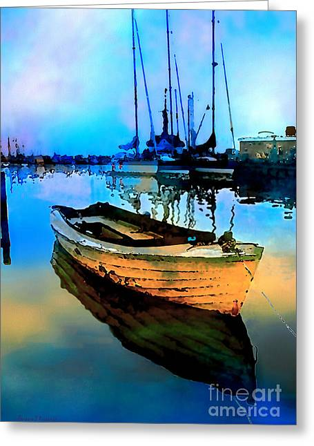 Early Tide Greeting Card by Barbara D Richards