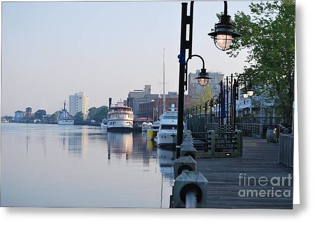 Greeting Card featuring the photograph Early Morning Walk Along The River by Bob Sample