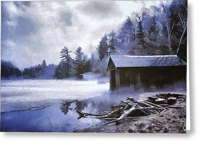 Early Winter Morning Greeting Card by Gun Legler