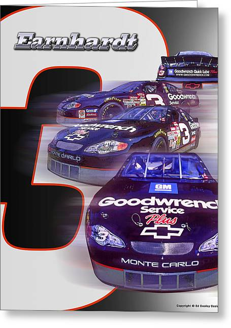 Earnhardt No. 3 Greeting Card