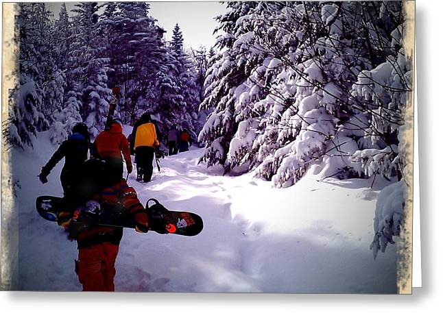 Earning Turns Greeting Card by James Aiken