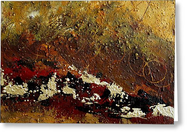 Earth Abstract Four Greeting Card by Lance Headlee