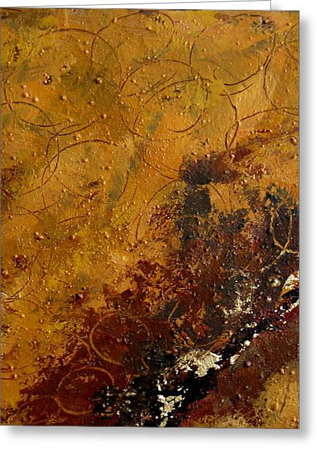 Earth Abstract Two Greeting Card by Lance Headlee