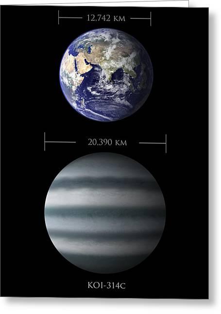 Earth And Koi-314c Comparison Greeting Card