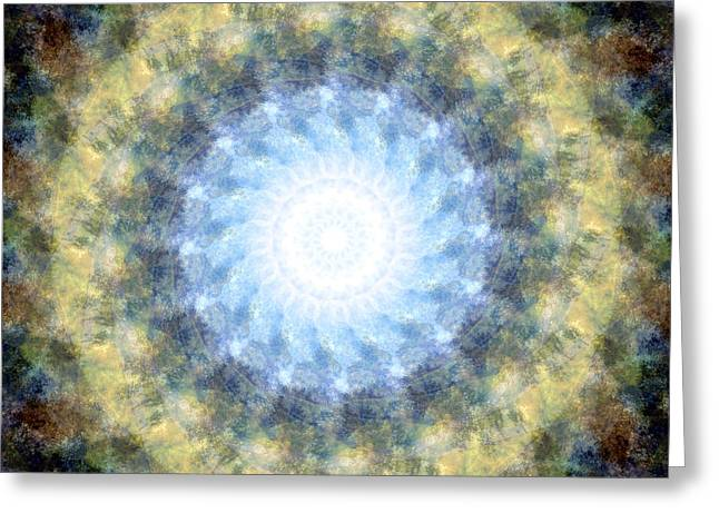 Earth And Sky Mandala Kaleidoscope Greeting Card